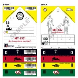MT-137i Emergency Triage Training Tag